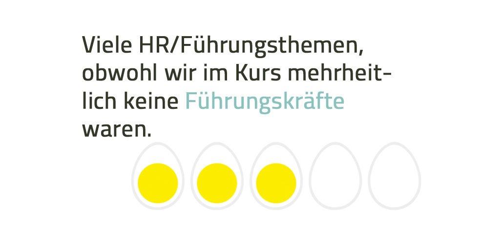 Bewertung einer Weiterbildung bei eggheads.ch