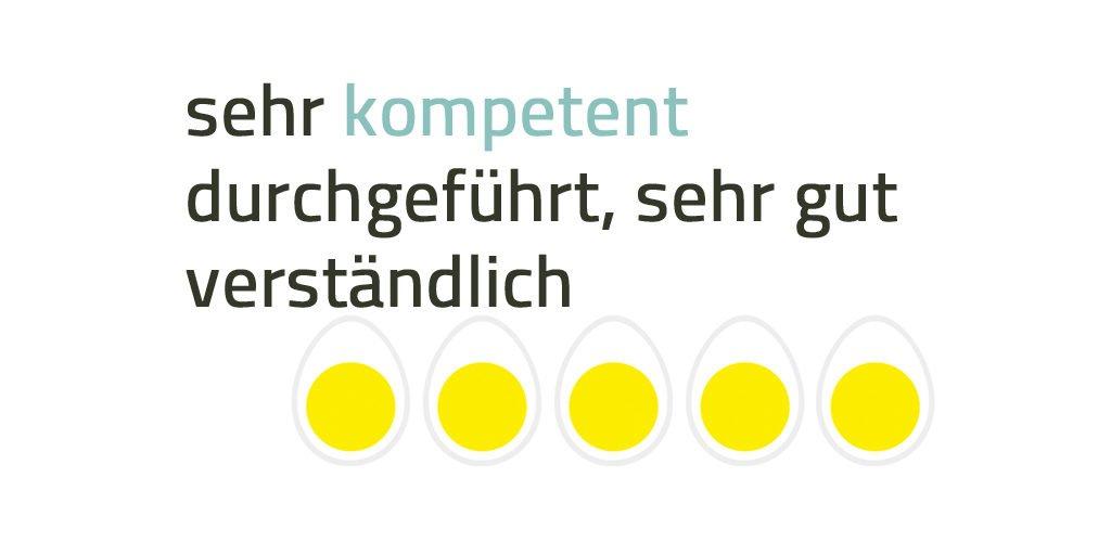 Beispiel einer Kursbewertung bei eggheads.ch